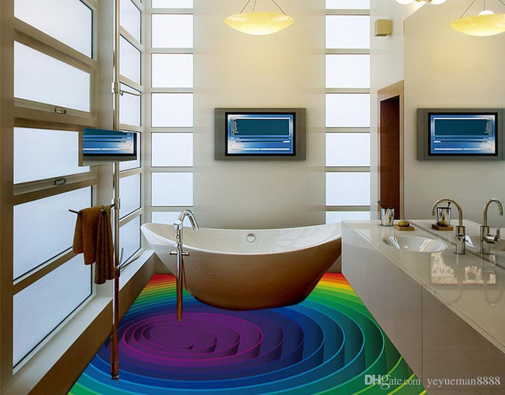 3d stereoskopik zemin duvar kağıdı Özel 3d zemin fotoğraf duvar kağıdı duvar resimleri Vektör renk swirls oturma odası duvar kağıdı 3d zemin resimleri
