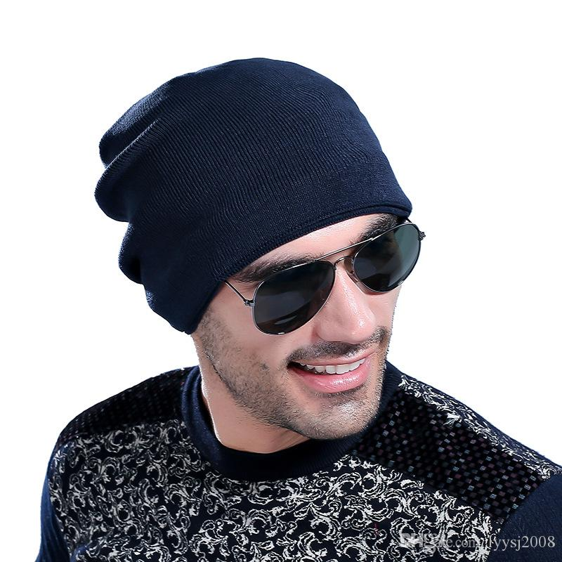 New hot men and women knitting warm minimalist style hat Christmas gifts winter warm hat ski hat sports high quality