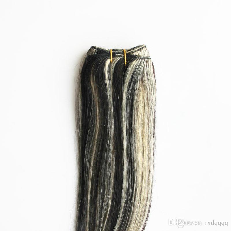 Brazilian straight hair bundles Beautiful Princess Hair brazilian hair weave bundles Non-remy 100g 1B/613 piano color