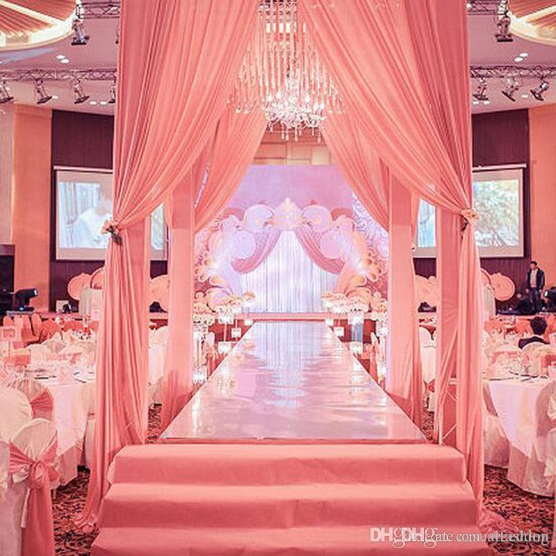 New Arrival 1m12m15m Wide Shine Silver Mirror Carpet Aisle