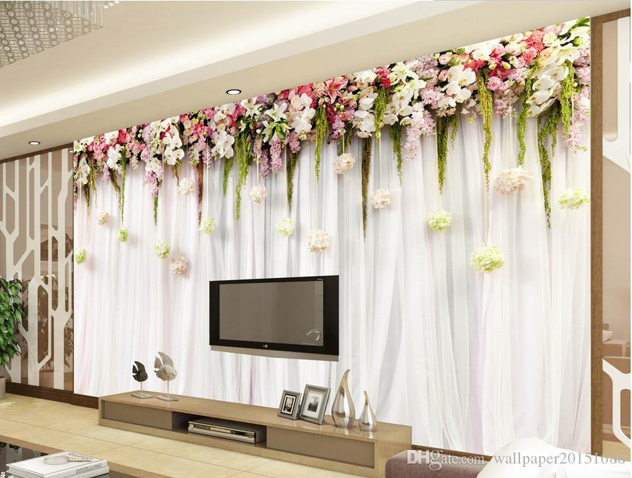 3d flowers flowers vine summer taste simple background wall mural 3d wallpaper 3d wall papers for tv backdrop