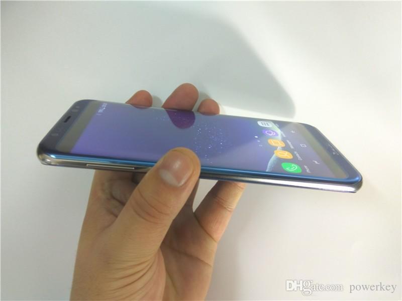HDC S8 + S8 + borda Quad Core 4G LTE Mostrar MTK6580 4 GB + 64 GB 1280 * 1920 Pixels 5.5 / 5.7 polegada QHD IPS Tela 13.0MP DHL navio