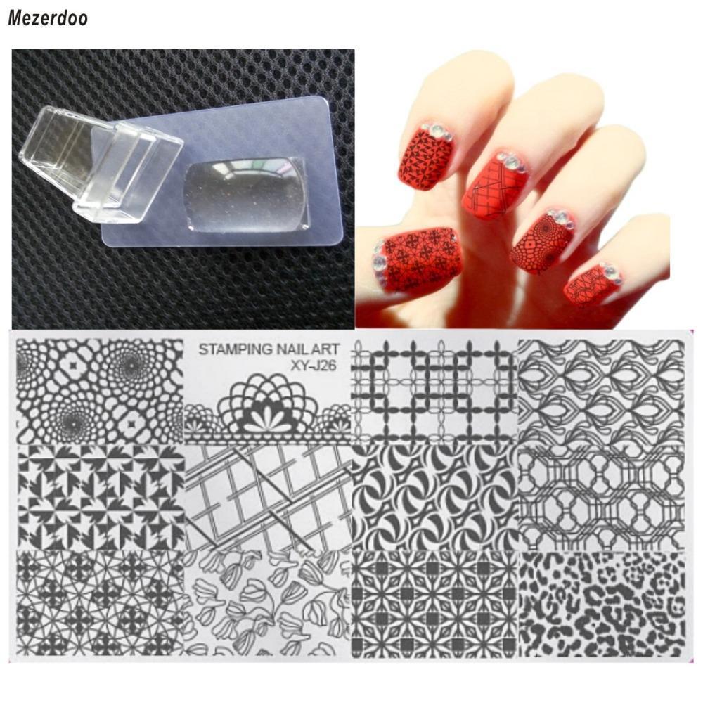 Nail Art Ideas stamp nail art : Wholesale Mezerdoo 1 Jelly Stamp Stamper+1 Scraper+1 Image Plate ...