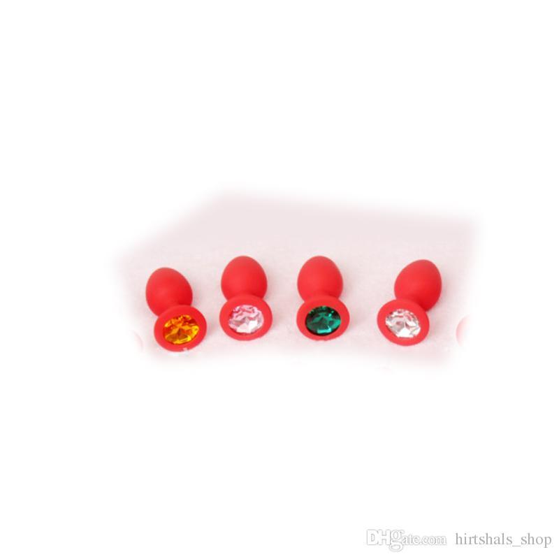 Silicona tamaño pequeño S butt plug butt anal bolas juguetes sexuales para adultos envío gratis