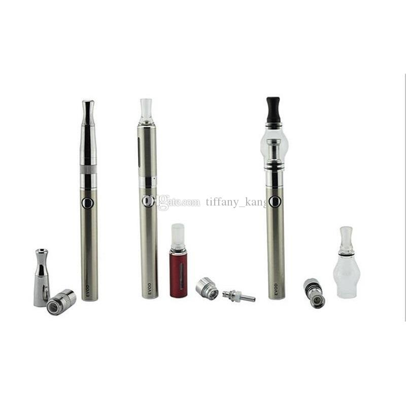 4 in 1 evod 650mah&900mah&1100mah battery Electonic cigarette Multi vape Vaporizer Starter Kit with MT3 CE3 SKILLET Glass globe atomizer