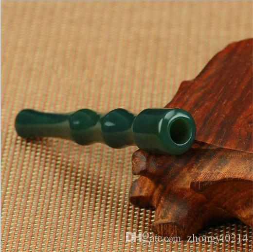 Xinjiang Hetian jade cigarette holder, hand carved exquisite handicraft, high quality jade cigarette holder wholesale, free delivery