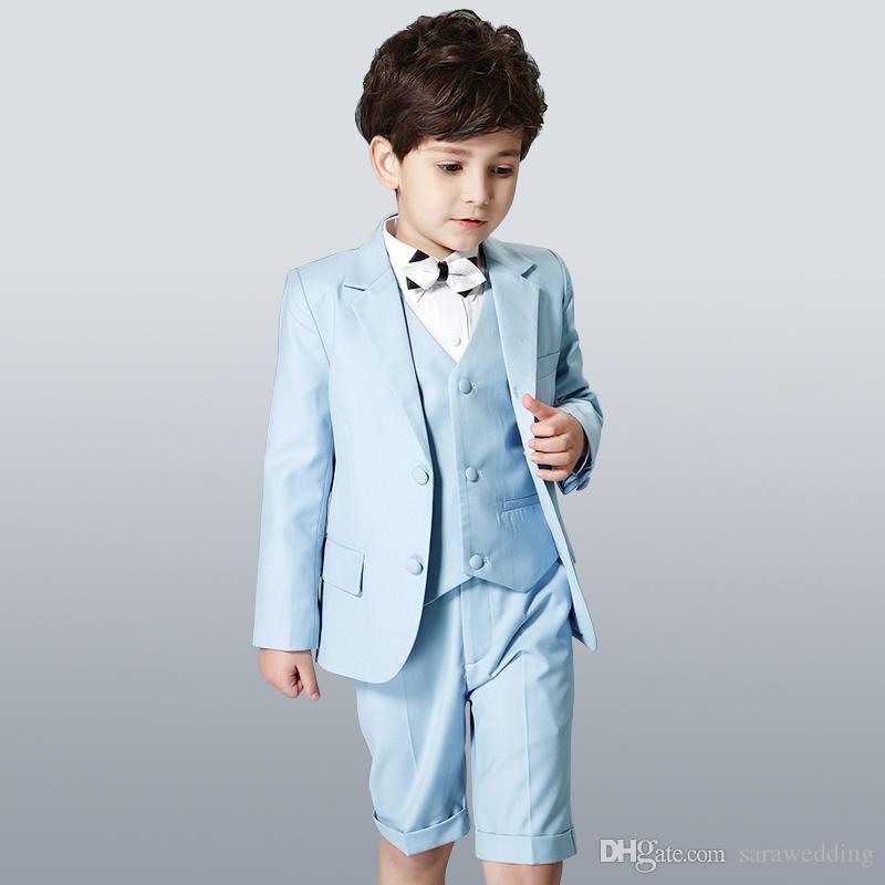 Ropa formal de los niños para el banquete de boda 2018 Niño traje de tres piezas chaqueta + pantalones + chaleco Nueva llegada