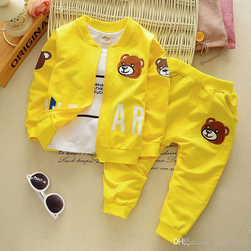 kids baby boys tops+T shirt + pants Outfits & set boys autumn clothing 0-4Y