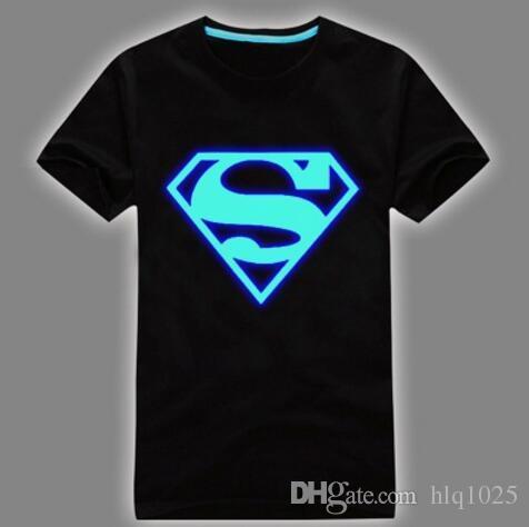 Оптовая мужские летние короткие футболки синий флуоресцентный случайные светящиеся футболки мужчины футболка мужской фитнес топы бесплатная доставка