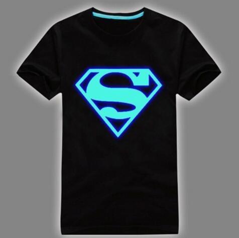 Atacado Mens Verão Curto T-Shirt Azul Fluorescente Luminosa Casual T-shirt Dos Homens Tshirt Masculino Tops de Fitness frete grátis