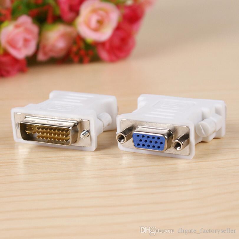 DVI 24 5 Stecker 24 + 5 Pin zu VGA Buchse Video Konverter Adapter M / F Für HDTV Computer