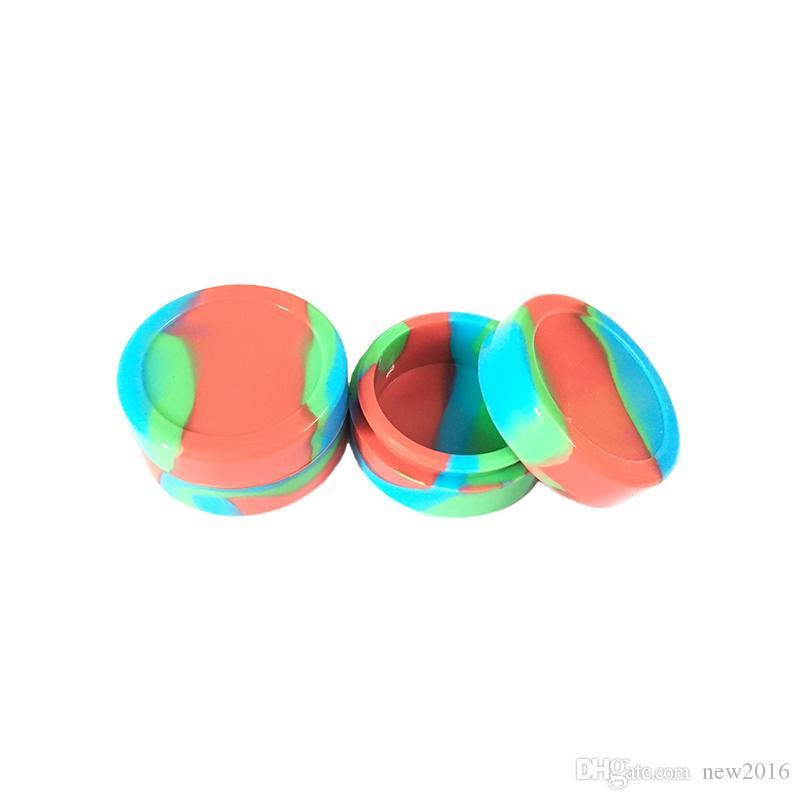 큰 실리콘 병 22 ml 왁 스 컨테이너 비 - 스틱 실리콘 오일 다양 한 색상 선택의 여지가 컨테이너 콘센트