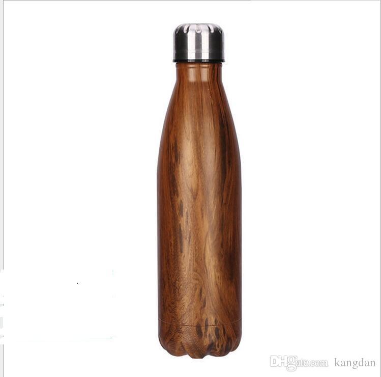 2017 beber Água Copo Caneca 500 ML Isolamento A Vácuo Copo Garrafa Esportes 304 Aço Inoxidável Cola Boliche Forma Canecas de Viagem