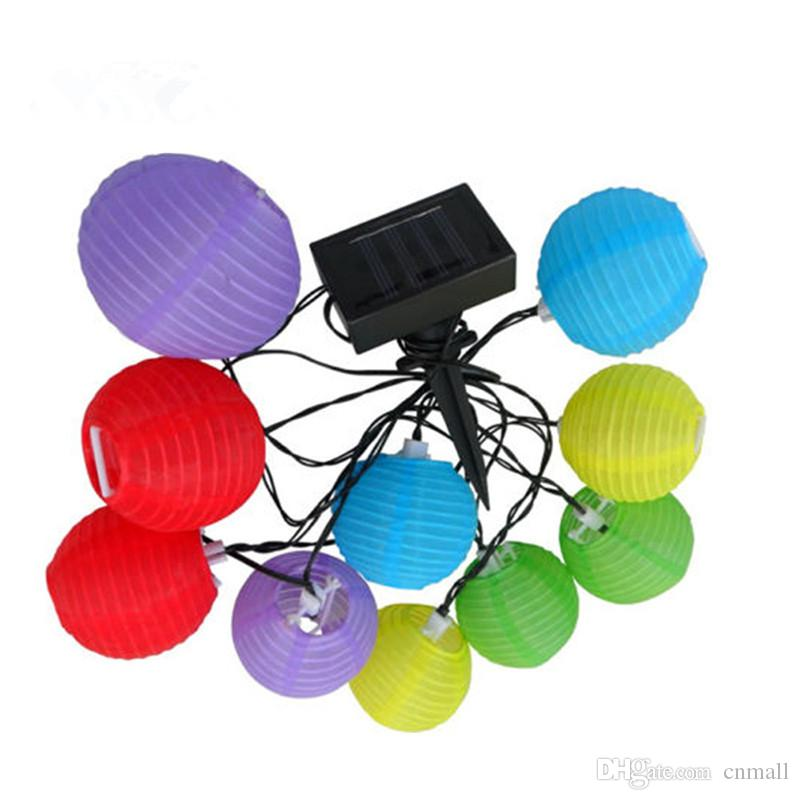 Outdoor Lantern LED Solar Lamp Multicolor Solar Chinese Lantern Light Mini  Colorful Lantern String Lighting Garden