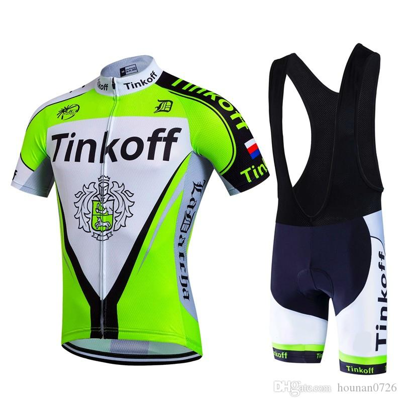 2017 New Tinkoff Team Pro Cycling Jersey + Bib Shorts Cycling Set Men s Bicycle  Cycling Clothing Bike Wear Shirts Outdoor 3a78f7c5e