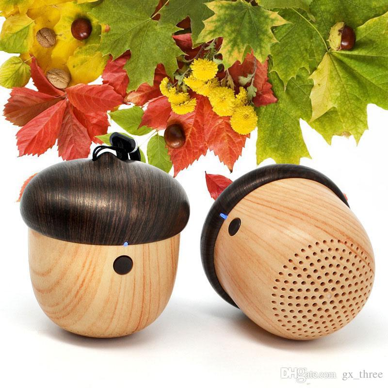 J2 bluetooth speaker mini portátil de madeira porca falante ao ar livre surround speaker estéreo para iphone 7 para xiaomi telefone móvel