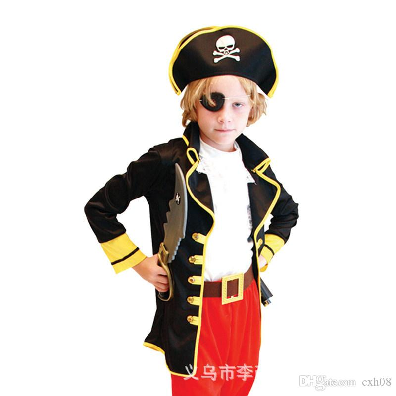 free shipping new fashion children halloween costumes stage costumes boys and girls pirates of the caribbean
