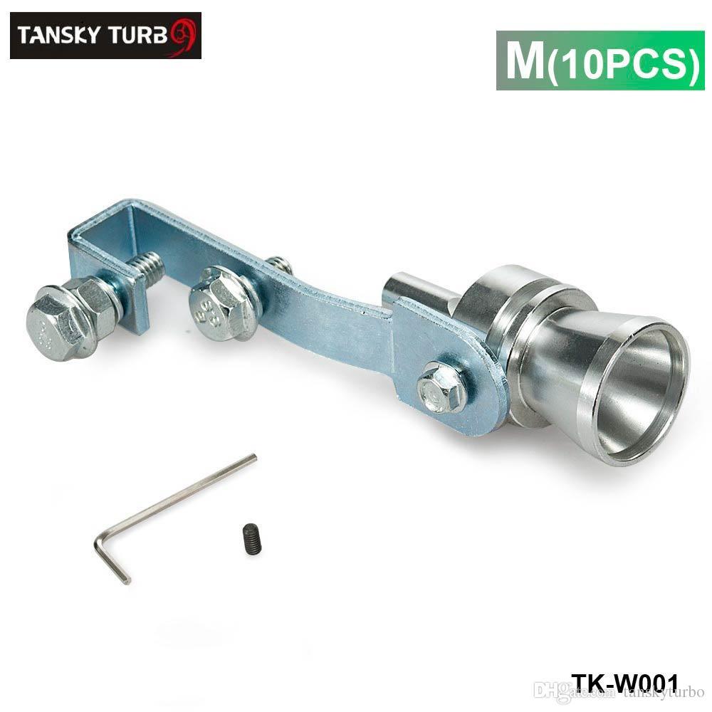TANKKY - M Size Nieuwe Turbo Sound Uitlaat Muftler Fake Black off-klep BOV Simulator Whistler / TK-W001 10 ST