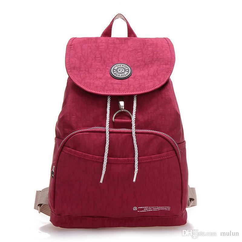 Women Backpack Waterproof Nylon Backpack Lady Backpacks Female ... 0c8b82903b