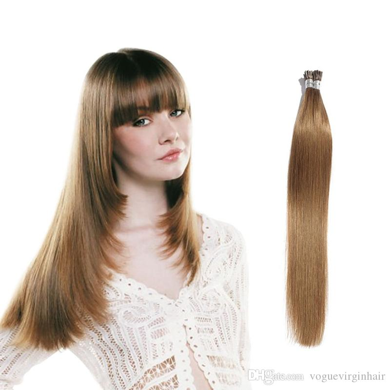 Natural Black I Tip Hair Extension 100 Stands High Quality Pre