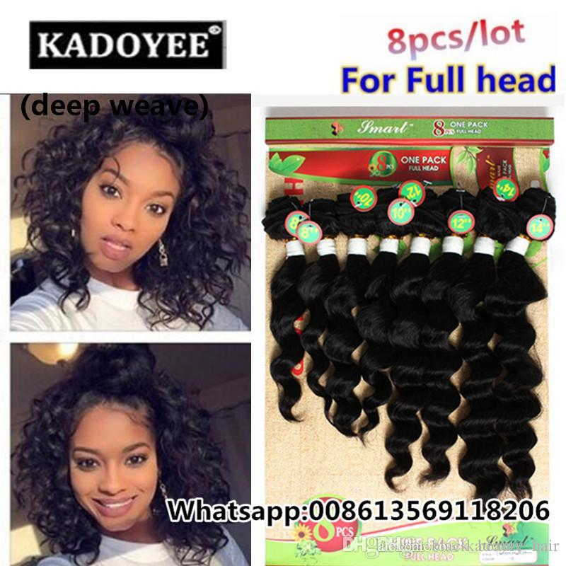2017 New Products Durable Remy Human Hair Deep Weave Bundles