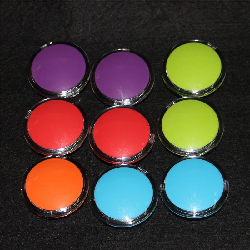 Hot silicone antiaderente contenitore in silicone trasparente 6ml vaso di stoccaggio di cera dab plastica barattoli di vetro in vetro acrilico vaporizzatore vasi di silicio vaso di vape