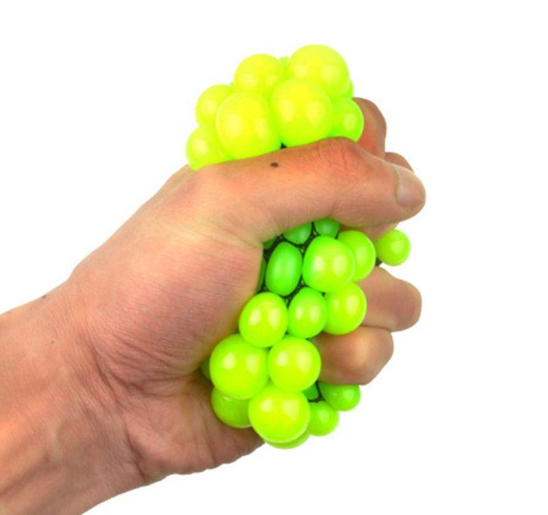 6 CM Bonito Anti Stress Apaziguador Rosto Uva Bola Autismo Humor Squeeze Relief Brinquedo Saudável Engraçado Gadget Geek Descompressão brinquedos B001
