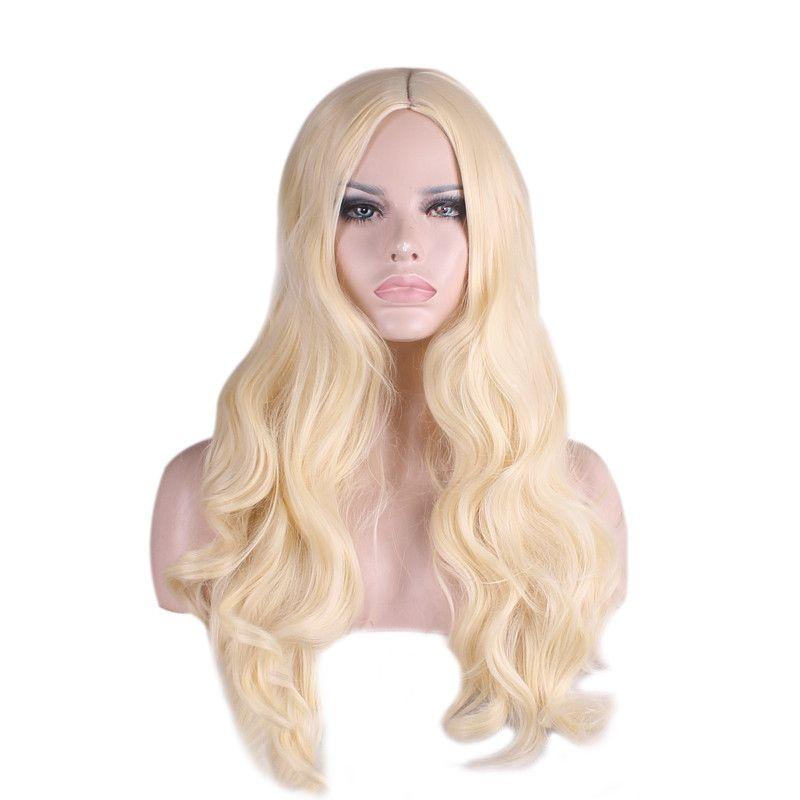 Harajuku Long Blonde Wig Cosplay Party Women Sexy Long