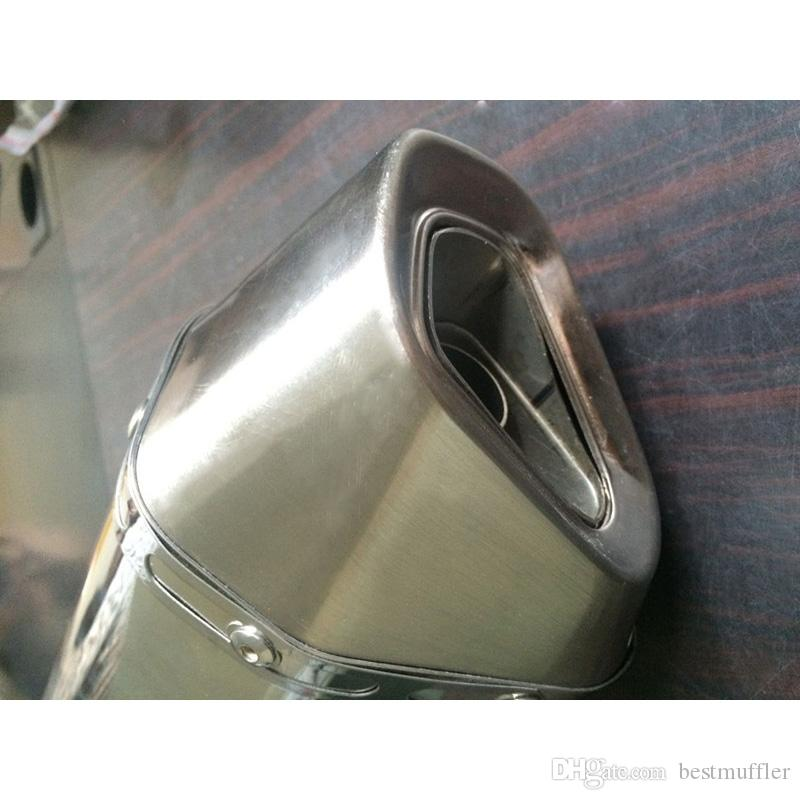 Lunghezza 460mm Universale 38-51mm Tubo di scarico del motociclo Tubo di scarico Tubo DB Killer con Tubo di coda in acciaio inossidabile
