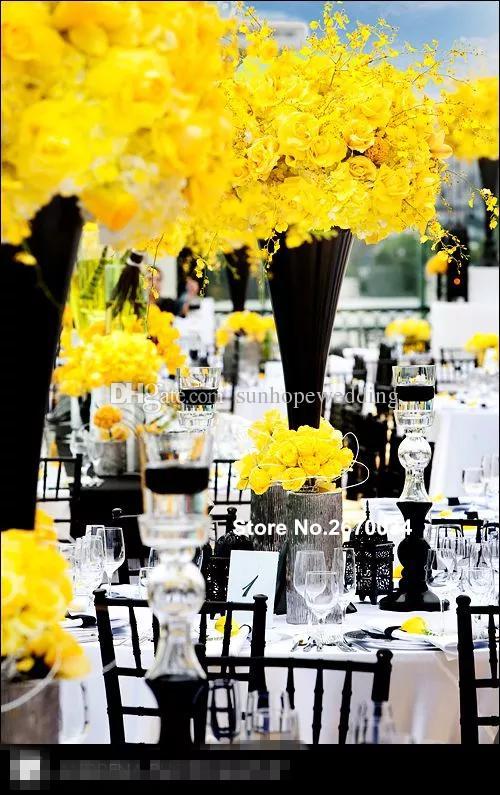 Yeni stil zihinsel düğün aranjmanı yapay duvar çiçek standı