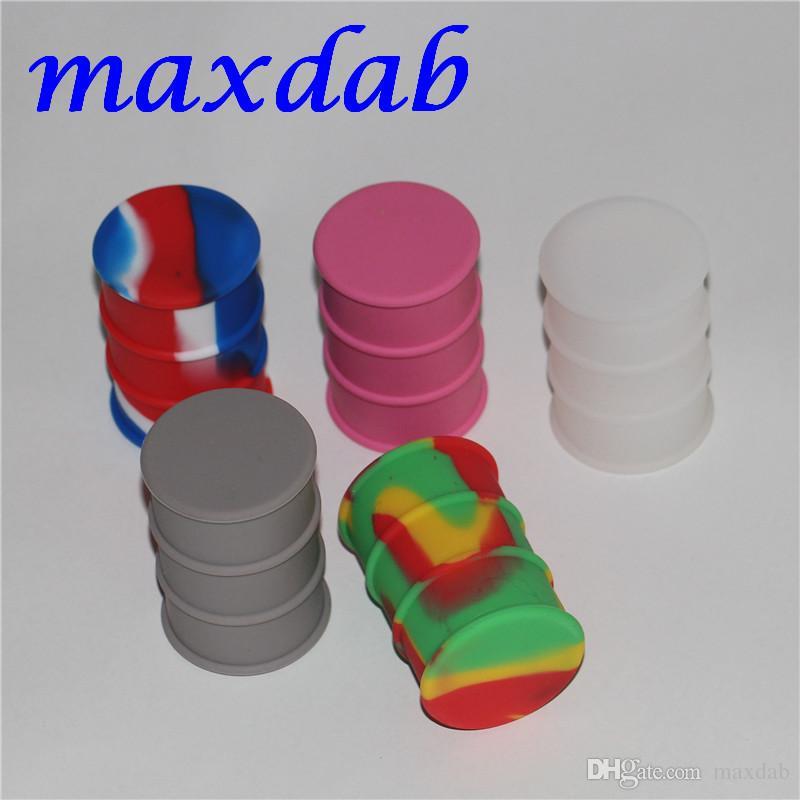 Hohe qualität silikonöl barrel drum container 26 ml antihaft silikonkautschuk gläser container für wachs silikon gläser tupfen wachs werkzeug 50 * 44mm