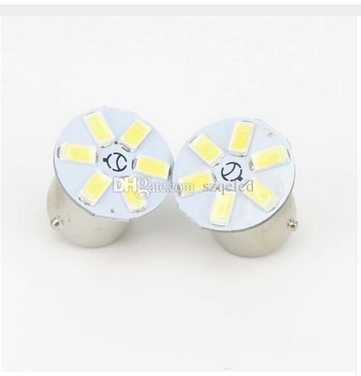 6 teile / los 1156 1157 Weiß 6SMD 5630 Backup Lampe Glühbirne LampTurn Signal Licht Bremslicht rückfahrscheinwerfer DC12V