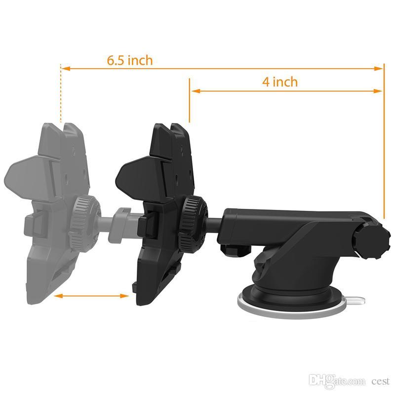 Support de téléphone de voiture mobile universel 360 degrés réglable porte pare-brise pour tableau de bord support pour tous les supports de téléphone portable GPS