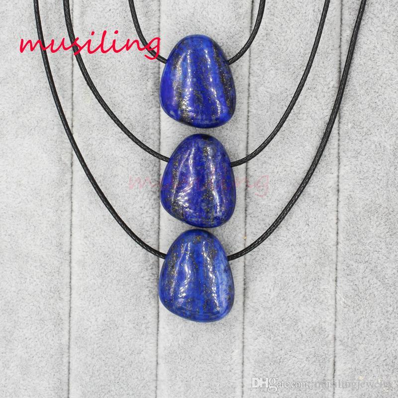 Collane Pendenti Pendenti Collana Catena Geometrica Pietra naturale Opal Charms Pendulum Gioielli di moda le donne
