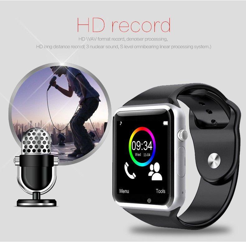 Neue Ankunft Smart Watch Clock Sync Notifier Unterstützung SIM TF Karte Konnektivität Apple iphone Android Phone Smartwatch