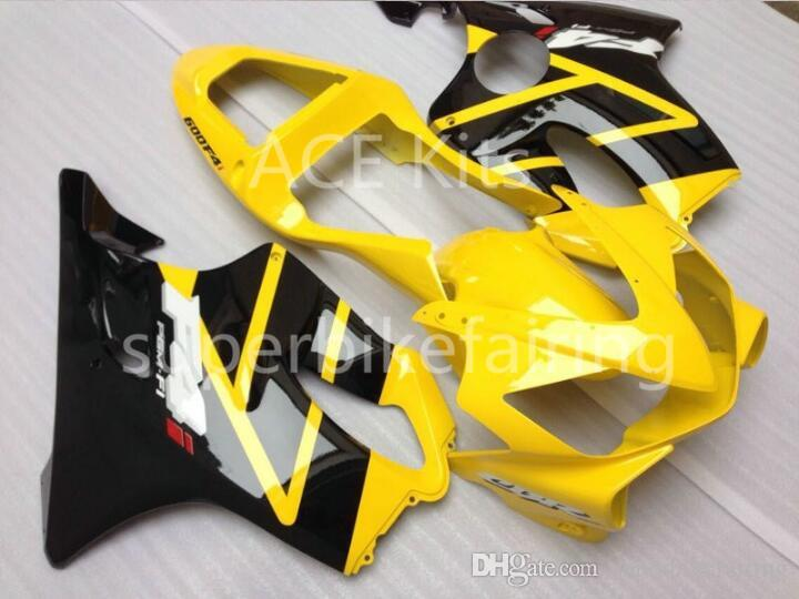 3 free gifts For Honda CBR600F4i 01 02 03 CBR 600F4i CBR600 2001 2002 2003 ABS Motorcycle fairing Yellow Black AA48