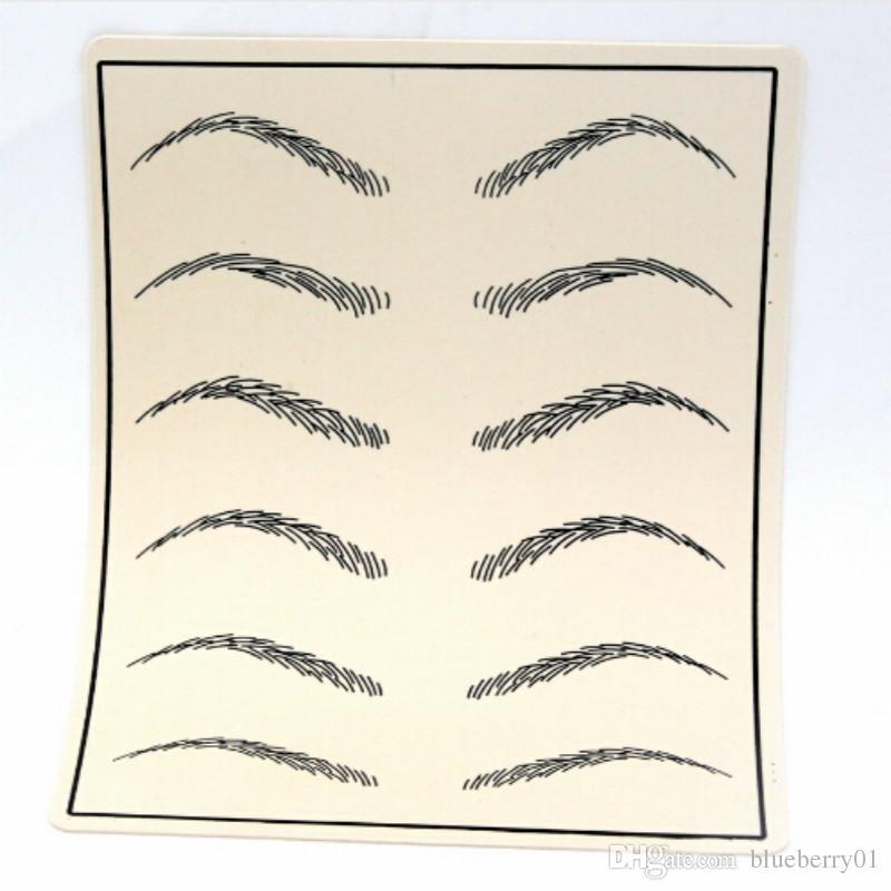 Cosmetic Permanent Makeup Eyebrow Tattoo Practice Skin Supply Fake ...
