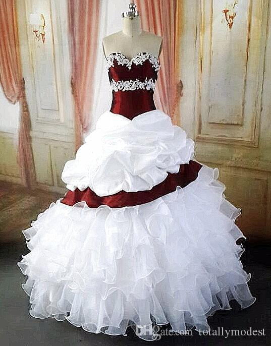 Ball Gown Vintage Wine Red White Colorful Wedding Dresses With Color Sweetheart 1950s Gothic Bridal Gowns Non White Real Photos Sale Wedding Dresses Vintage Style Wedding Dress From Totallymodest 96 52 Dhgate Com