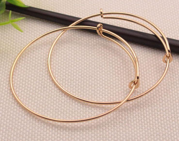 L'Europe et les États-Unis bangle fil de câble argent bracelets bracelet de fil de bijoux en or bracelet réglable amour charme fabrication de bijoux bricolage