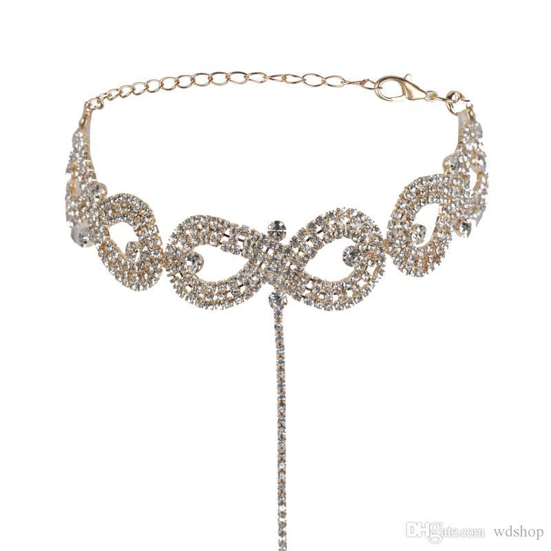 Unendlichkeit Colliers Halskette Mit Zirkonia Stein Für Immer Unendlichkeit Liebe Freundschaft Anhänger Charme Erklärung Halsketten Für Frauen Kragen