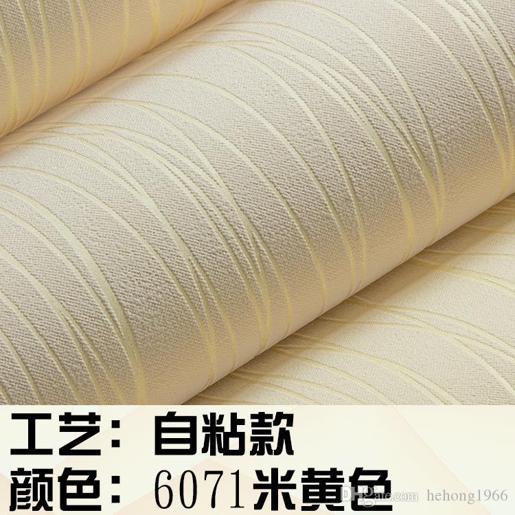 Fondos de pantalla en 3D Papel no tejido Rayas verticales Paredes de fondo Autohesion de papel Auto grabado para sala de estar Decoración de dormitorio 1 75lg A R