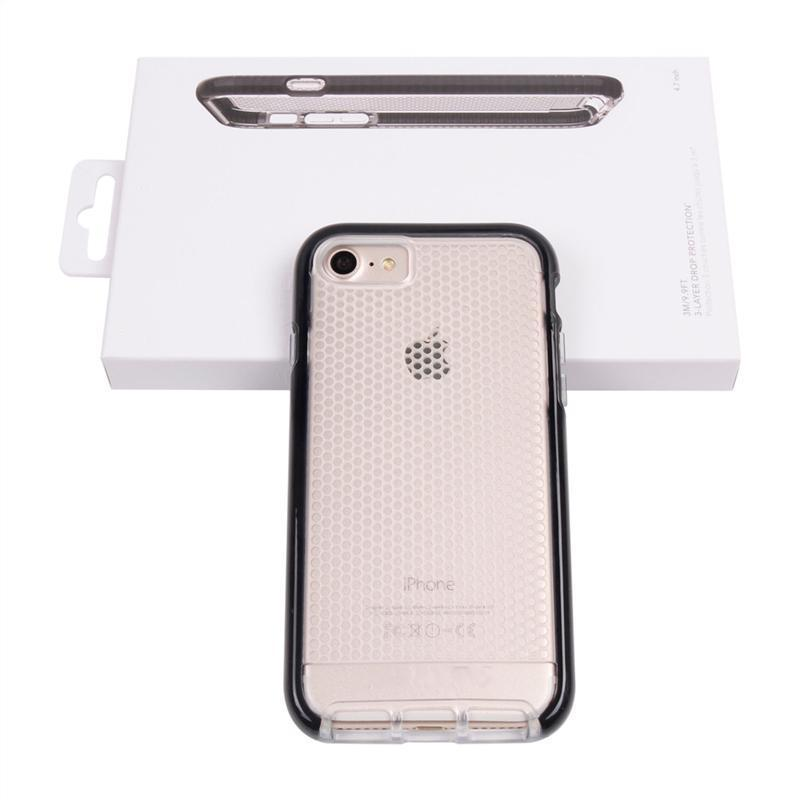 For iPhone 7 Mesh Case for iPhone 7 Plus Soft PC+TPU Material Protector with Retail Package /up