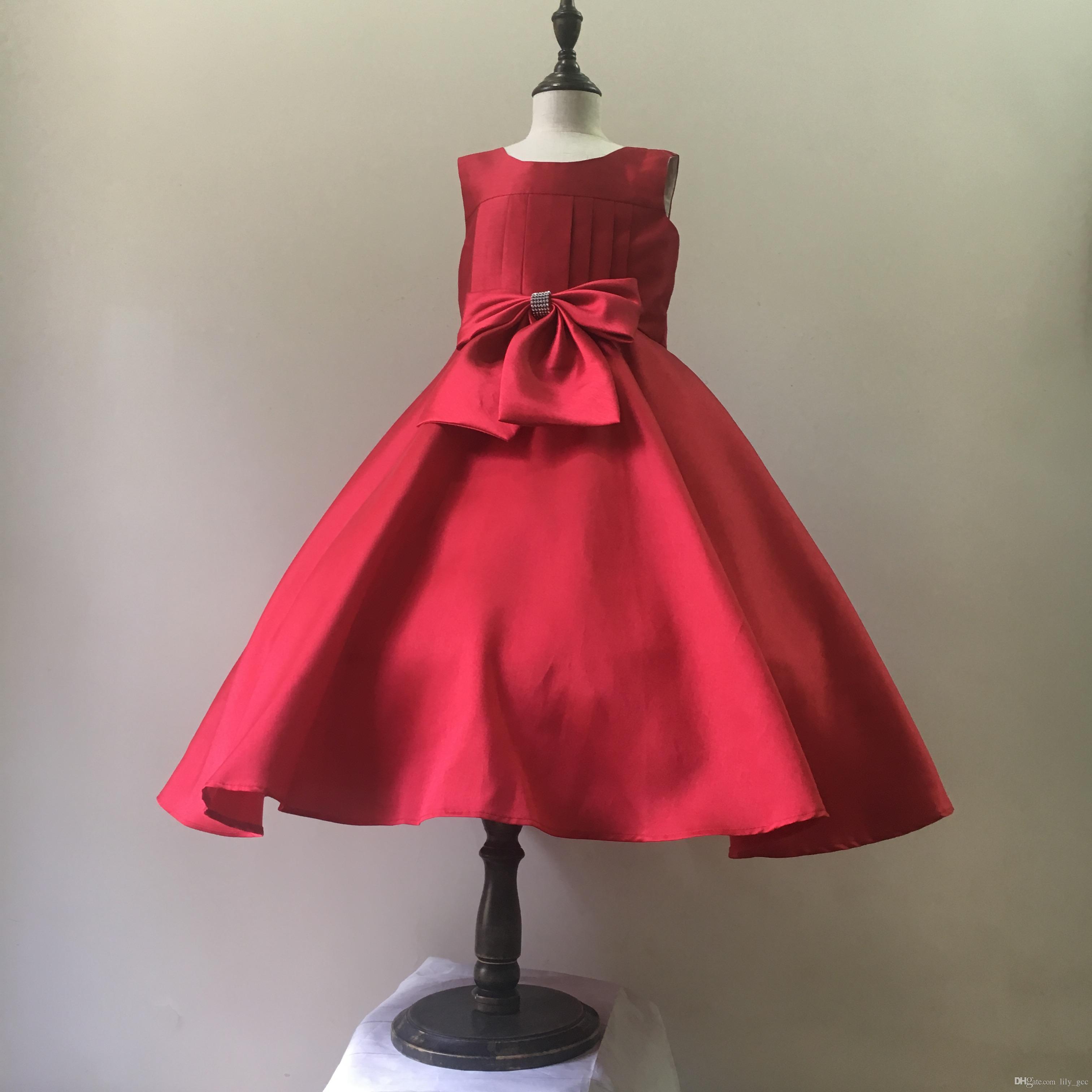 Großhandel Neu! Slub Baumwolle Party Kleid Mädchen Usa Größe ...