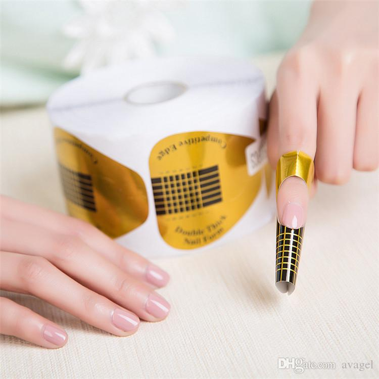 Golden Paper Horse Shoe Shape Double Thick Professional Nail Art ...