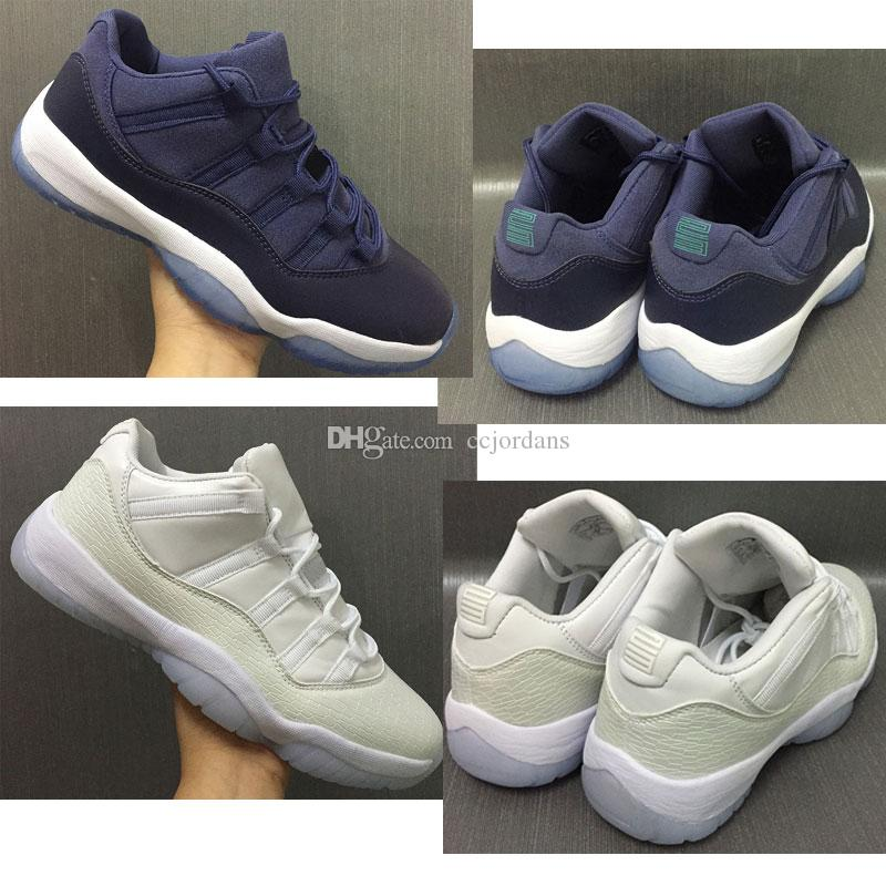 a2bfc750aaa 2018 11 Low Blue Moon Frost White Men Women Basketball Shoes GS 11s XI Low  Cut Sports Sneakers High Quality With Shoes Box Sneakers Jordans From  Ccjordans
