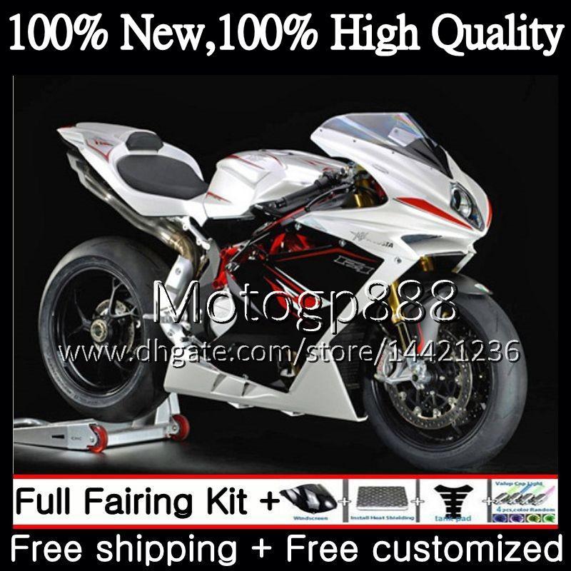 Body For MV Agusta F4 05 06 R312 750S 1000 R 750 Pearl White 1000CC 13PG8 1000R 312 06 1078 1+1 MA MV F4 2005 2006 05 06 Fairing Bodywork