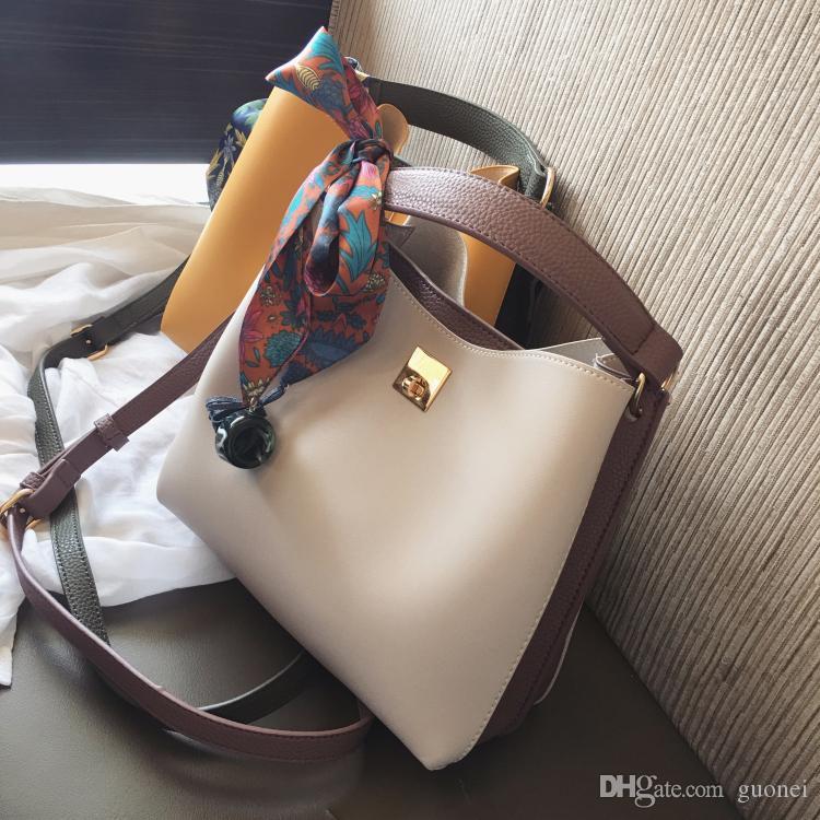 2017 New Women Bags Fashion Bucket Bag Designer Handbag Casual Scarf hand Shoulder Messenger Bag Wholesale retail