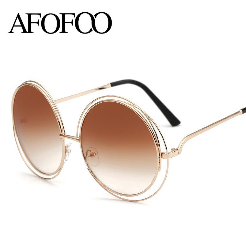 Wholesale Afofoo New Fashion Wire Frame Sunglasses Brand Designer ...