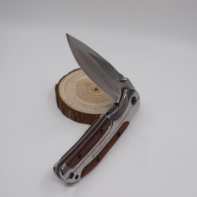 Browning DA43 Klapp Taschenmesser Titanium Taktische Messer 3Cr13 Klinge Palisander Griff Camping Multi Tool Fast Open Jagdmesser