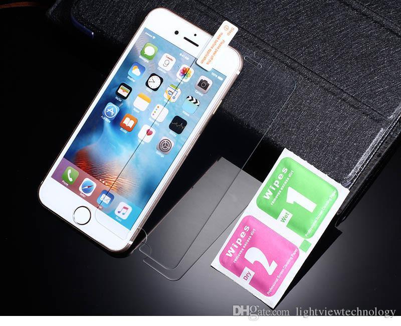 Pour iPhone 8 Plus iPhone X 0.26mm 2.5D 9H Verre Trempé Protecteur D'écran Pour iPhone 7 Plus 6S 5S S7 Bord